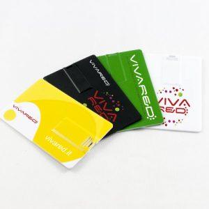 Pendrive USB a forma di carta di credito