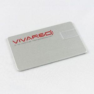 Chiavi USB a forma di carta di credito in alluminio con stampa del logo