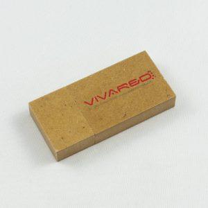 Chiavi USB in materiale riciclato ed ecologiche, forma rettangolare e personalizzate con logo