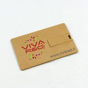 Chiavette USB in materiale riciclato ed ecologiche, card / carta di credito e personalizzate con logo