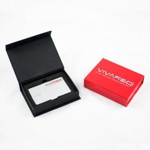 Confezione in cartoncino nera per chiavi USB - Black gift box