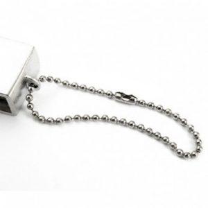 catenina in acciaio per chiavi usb