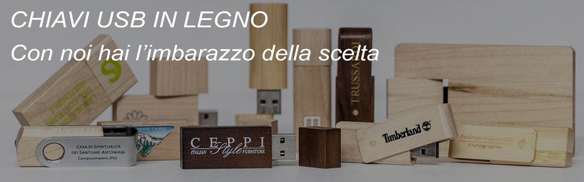 Chiavette USB in legno