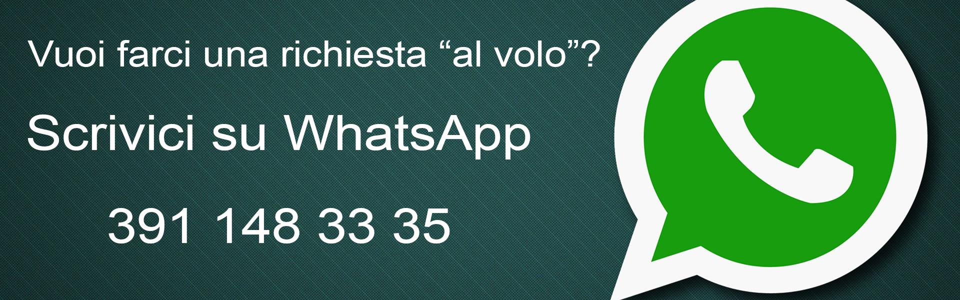 Banner contattaci su WhatsApp