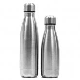 BA-101 borracce termiche in acciaio 500ml e 350ml silver, personalizzabili con logo / Vivared.it Chiavi USB - Power Banks - Lanyards - Borracce - Prodotti promozionali personalizzati