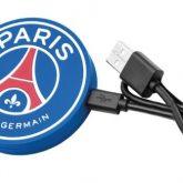 Power banks flat sagomati in PVC con forma circolare blu e logo Paris Saint Germain / Vivared.it Chiavi USB - Power Banks - Lanyards - Borracce - Prodotti promozionali personalizzati