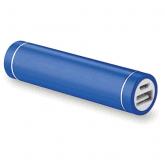 T-704 power bank in metallo colore blu e stampa del logo / Vivared.it Chiavi USB - Power Banks - Lanyards - Borracce - Prodotti promozionali personalizzati