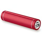 T-704 power bank in metallo colore rosso e stampa del logo / Vivared.it Chiavi USB - Power Banks - Lanyards - Borracce - Prodotti promozionali personalizzati